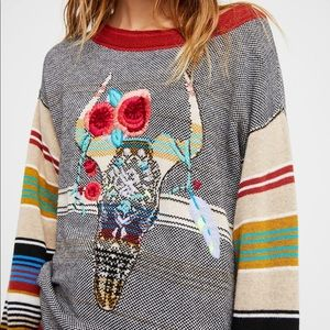 🍂 Free People Desert Rose Knit Sweater Rare 🍂